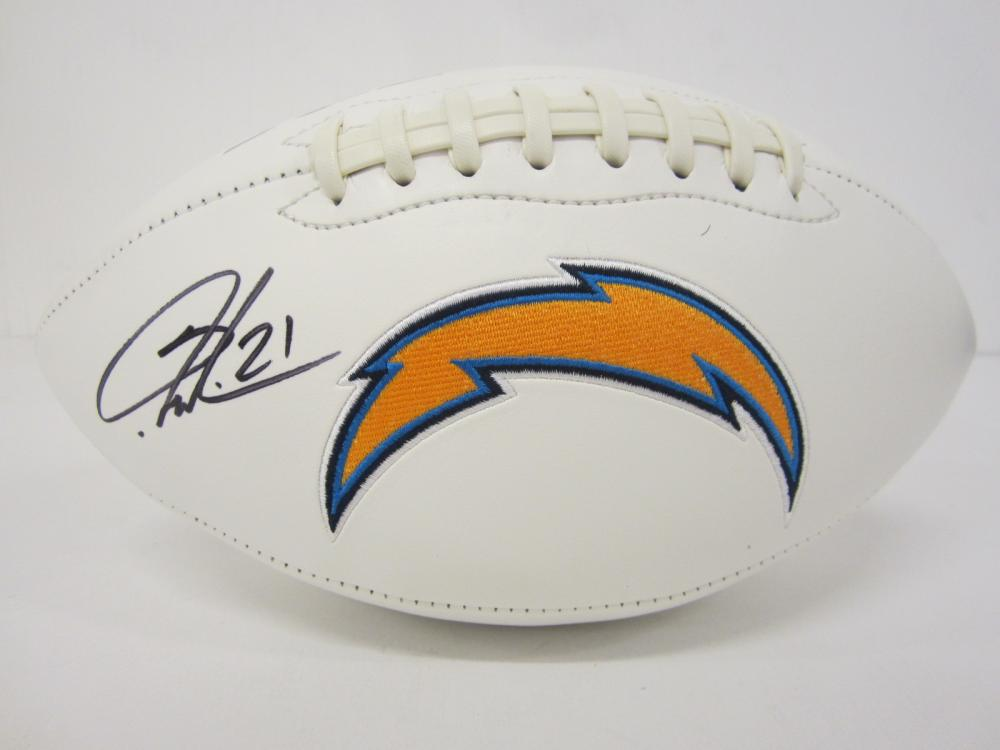 Lot 116: LADAINIAN TOMLINSON SIGNED AUTOGRAPHED CHARGERS FOOTBALL COA