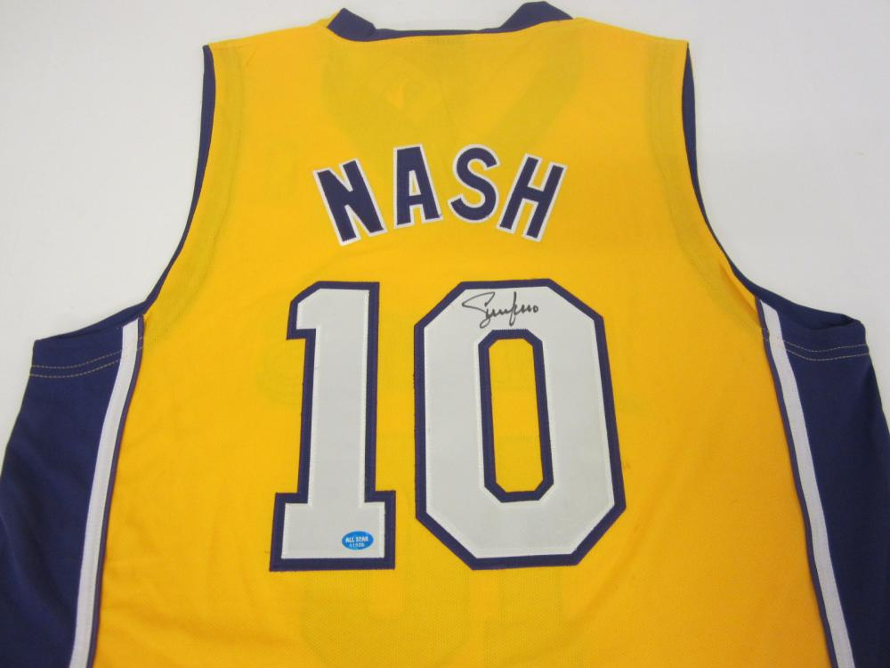 STEVE NASH SIGNED AUTOGRAPHED LAKERS JERSEY COA