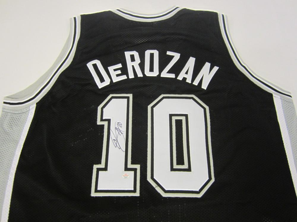 Lot 112: DEMAR DEROZAN SIGNED AUTOGRAPHED SPURS JERSEY PAAS COA