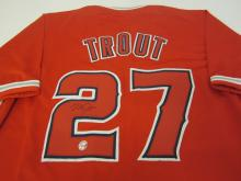 Lot 109: MIKE TROUT SIGNED AUTOGRAPHED ANGELS JERSEY COA