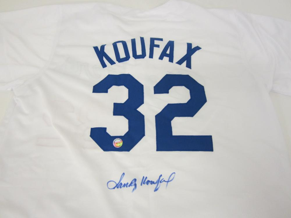 SANDY KAUFAX SIGNED AUTOGRAPHED DODGERS JERSEY COA