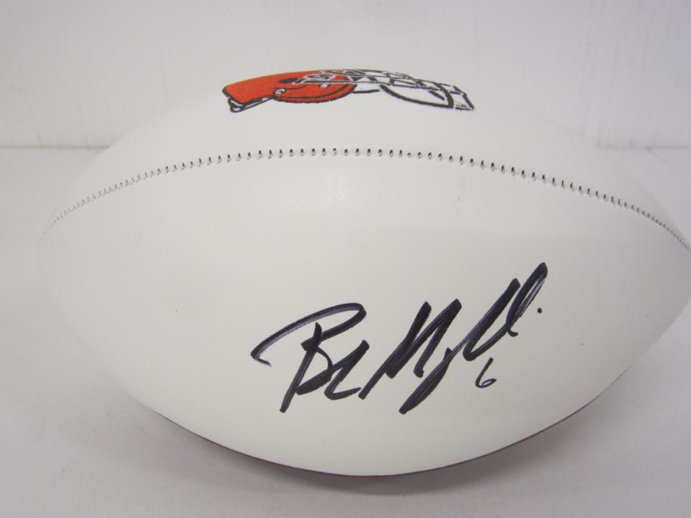 BAKER MAYFIELD SIGNED AUTOGRAPHED BROWNS FOOTBALL COA