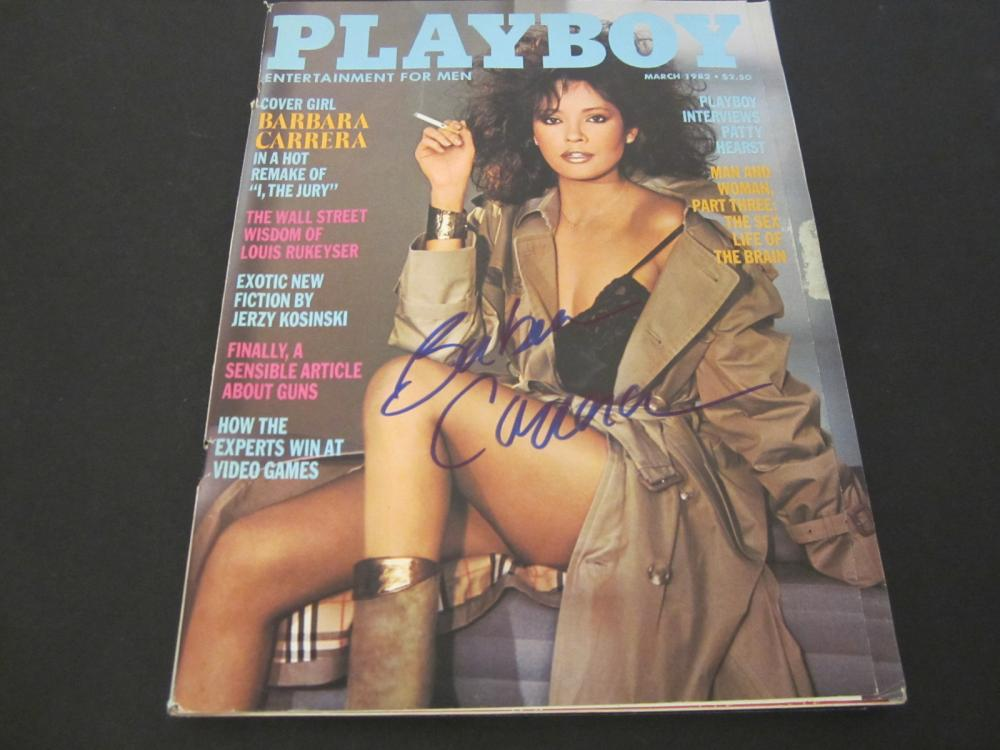 Lot 135: BARBARA CARERA SIGNED AUTOGRAPHED PLAYBOY MAGAZINE COA