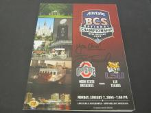 Lot 136: JIM TRESSEL SIGNED AUTOGRAPHED BCS CHAMPIONSHIP PROGRAM COA
