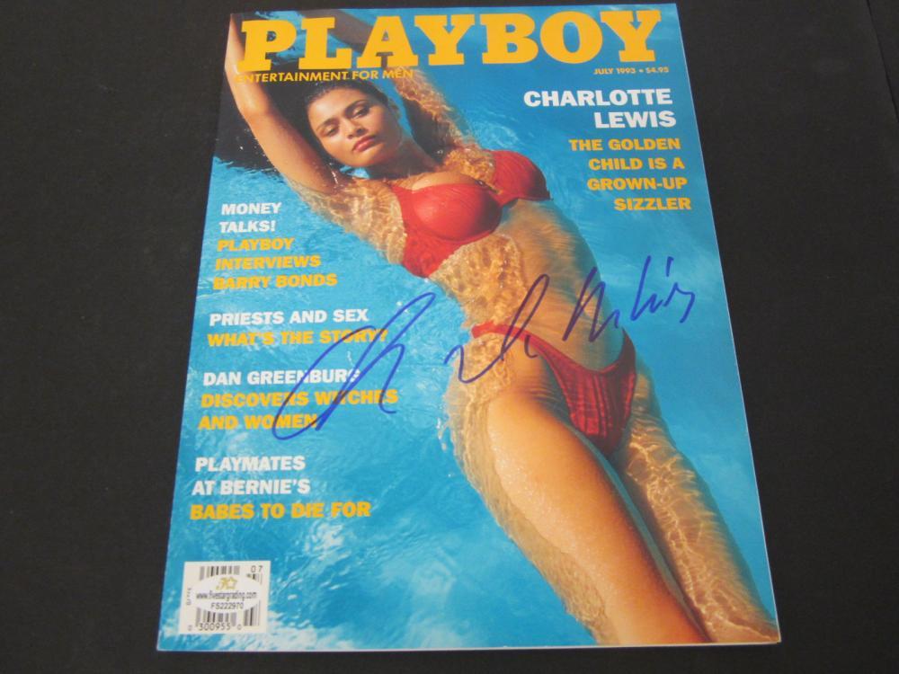 CHARLOTTE LEWIS SIGNED AUTOGRAPHED PLAYBOY MAGAZINE COA