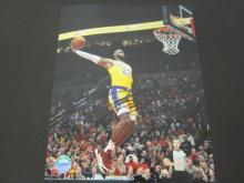 Lot 138: LEBRON JAMES SIGNED AUTOGRAPHED LAKERS 8X10 COA