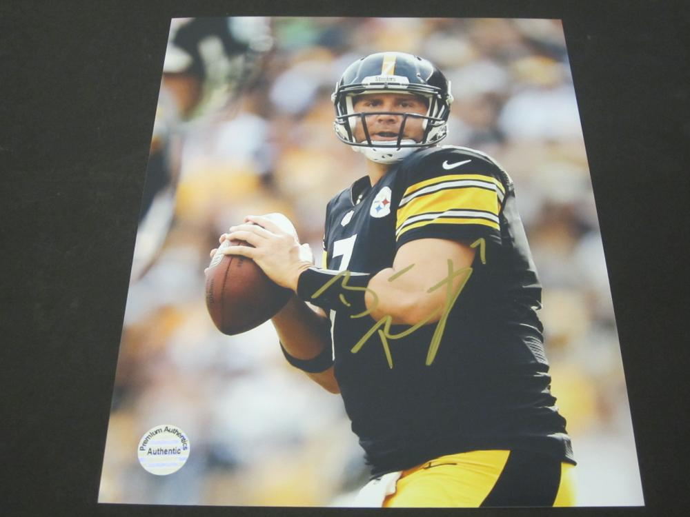 BEN ROETHLISBERGER SIGNED AUTOGRAPHED STEELERS 8X10 COA