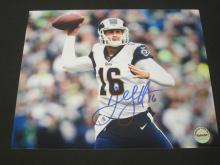 Lot 157: JARED GOFF SIGNED AUTOGRAPHED RAMS 8X10 COA
