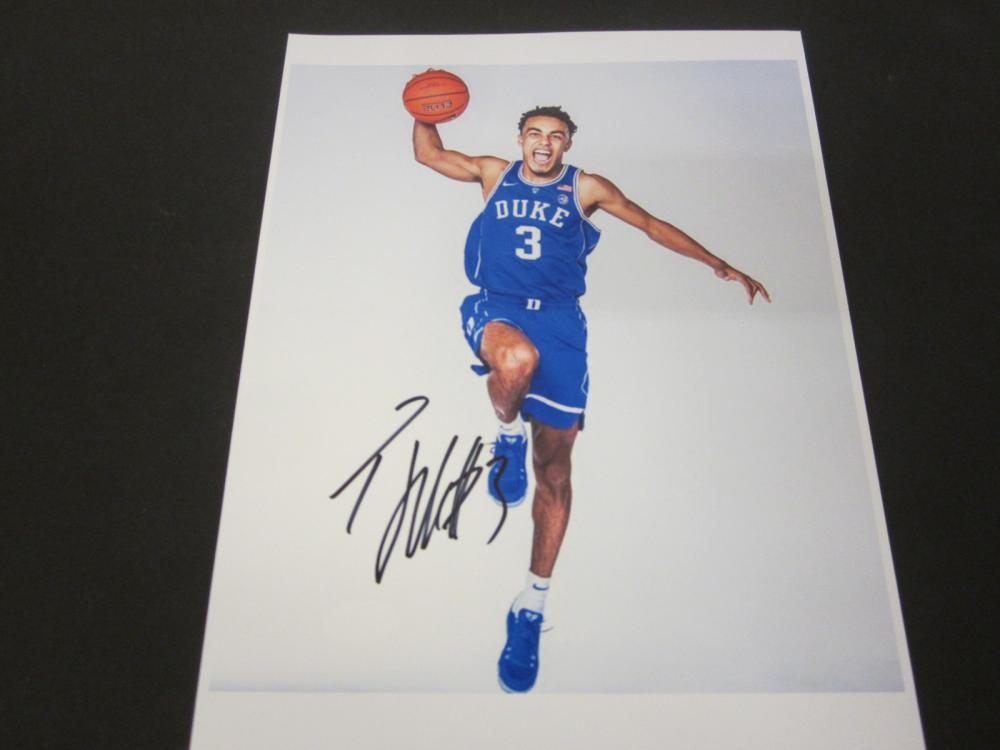 Lot 175: TRE JONES SIGNED AUTOGRAPHED DUKE 8X10 COA