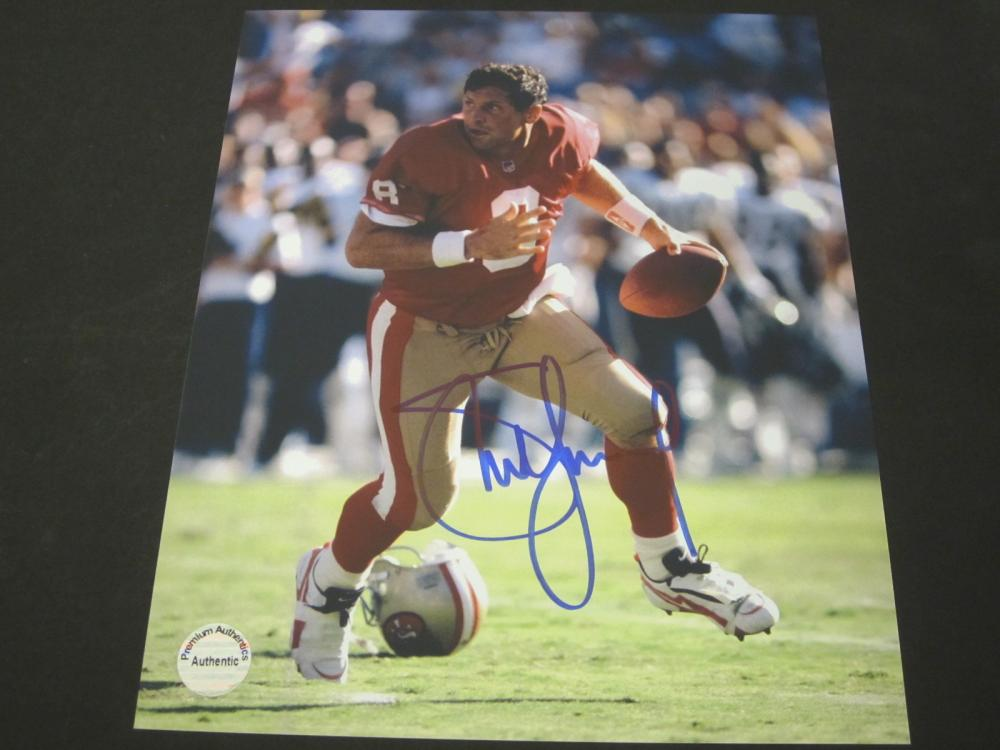 STEVE YOUNG SIGNED AUTOGRAPHED 49ERS 8X10 COA