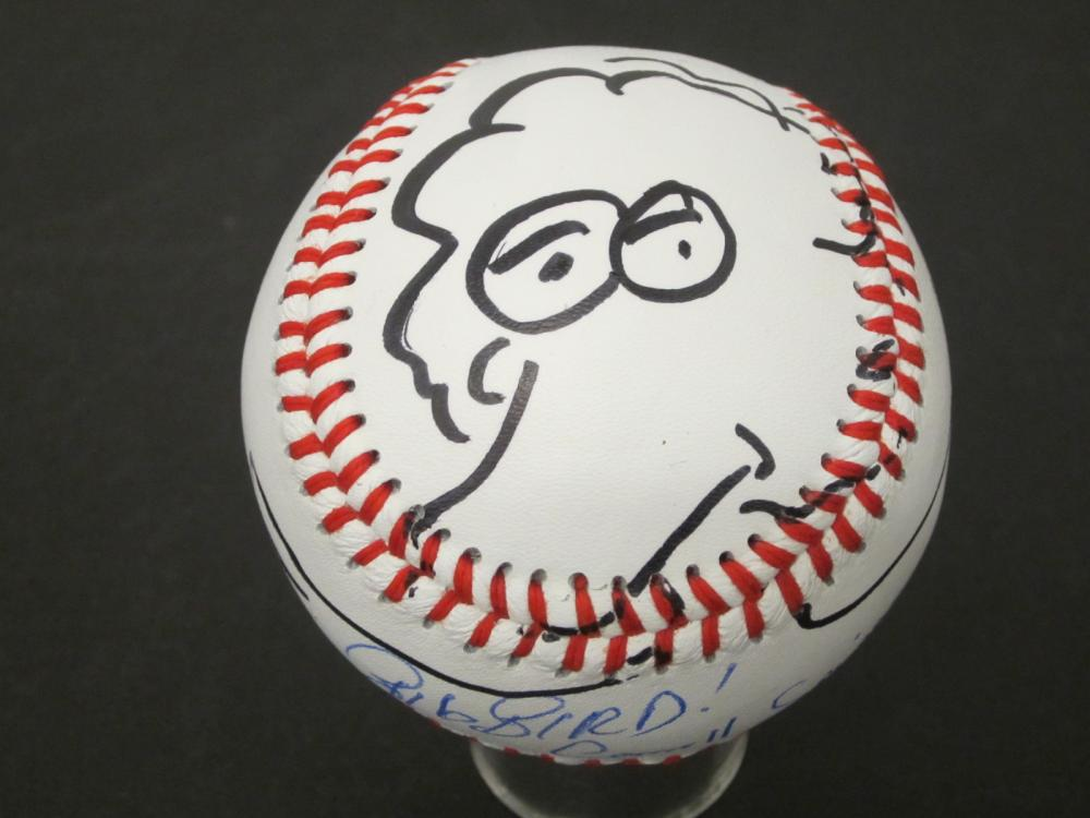 CAROLL SPINNEY SIGNED AUTOGRAPHED BASEBALL W/DRAWING COA