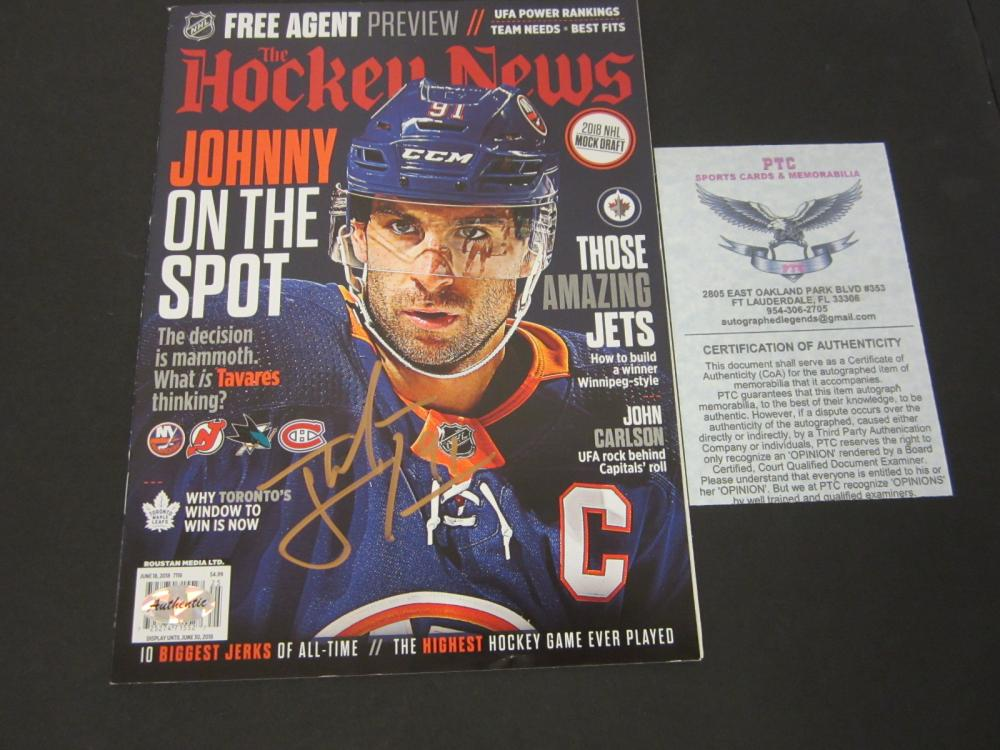 Lot 192: JOHN TAVARES SIGNED AUTOGRAPHED HOCKEY MAGAZINE COA