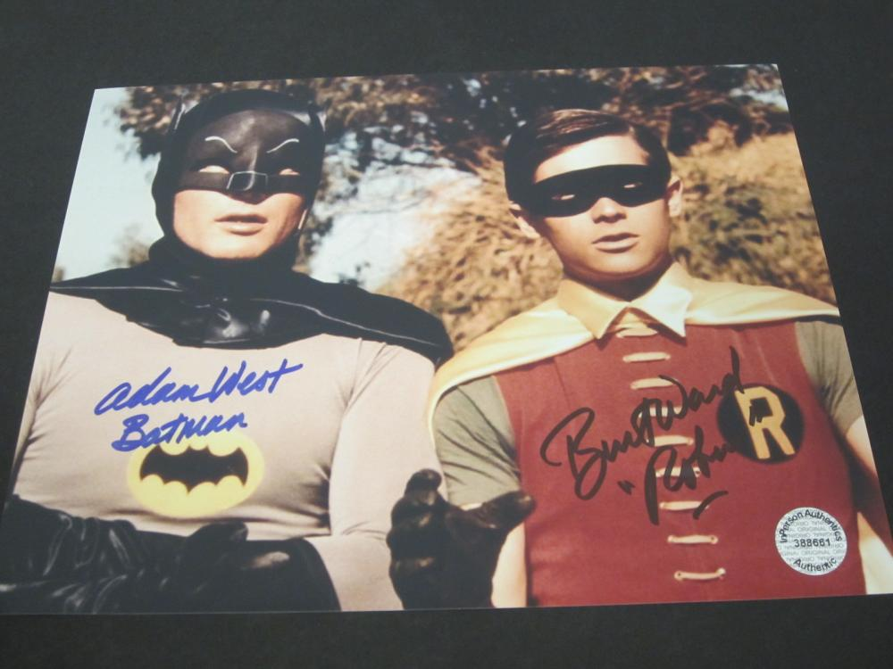 Lot 208: ADAM WEST,BURT WARD SIGNED AUTOGRAPHED 8X10 COA