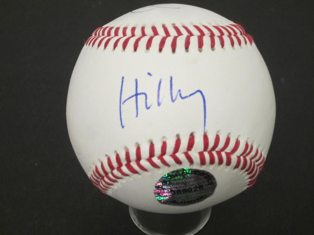 Lot 252: HILLARY CLINTON,BILL CLINTON SIGNED AUTOGRAPHED BASEBALL COA