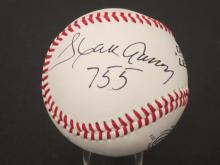 Lot 254: WILLIE MAYS,HANK AARON SIGNED AUTOGRAPHED BASEBALL COA