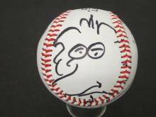 Lot 257: CAROLL SPINNEY SIGNED AUTOGRAPHED BASEBALL W/DRAWING COA