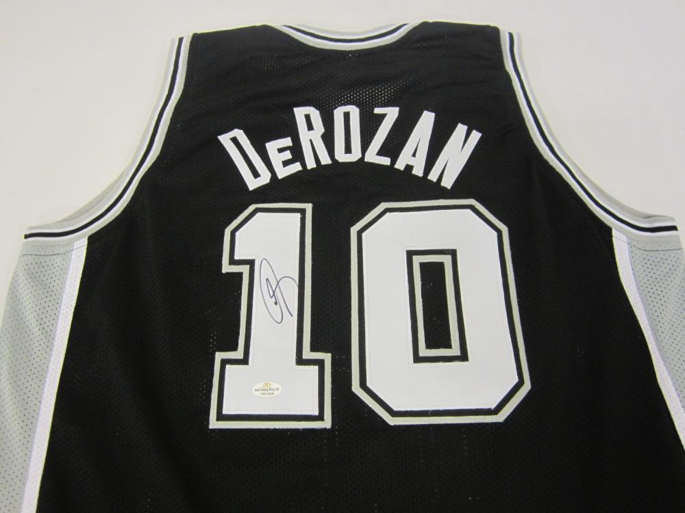 Lot 264: DEMAR DEROZAN SIGNED AUTOGRAPHED SPURS JERSEY COA