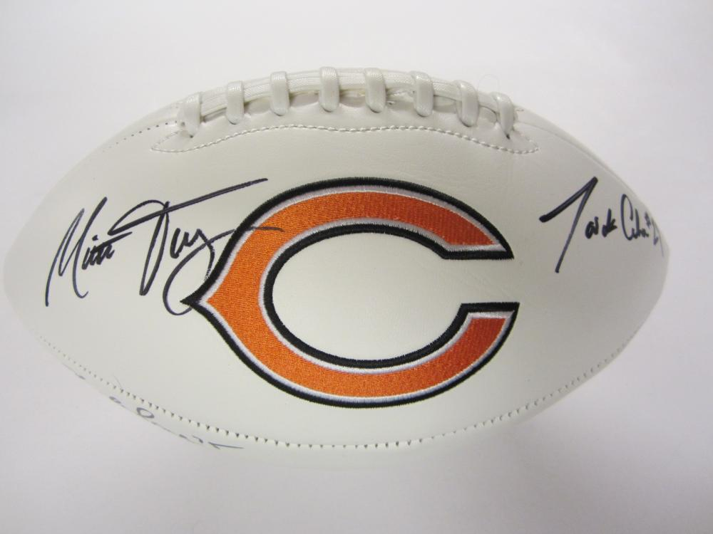 Lot 275: CHICAGO BEARS TEAM SIGNED AUTOGRAPHED FOOTBALL COA TRUBISKY,MACK,COHEN,LONG +