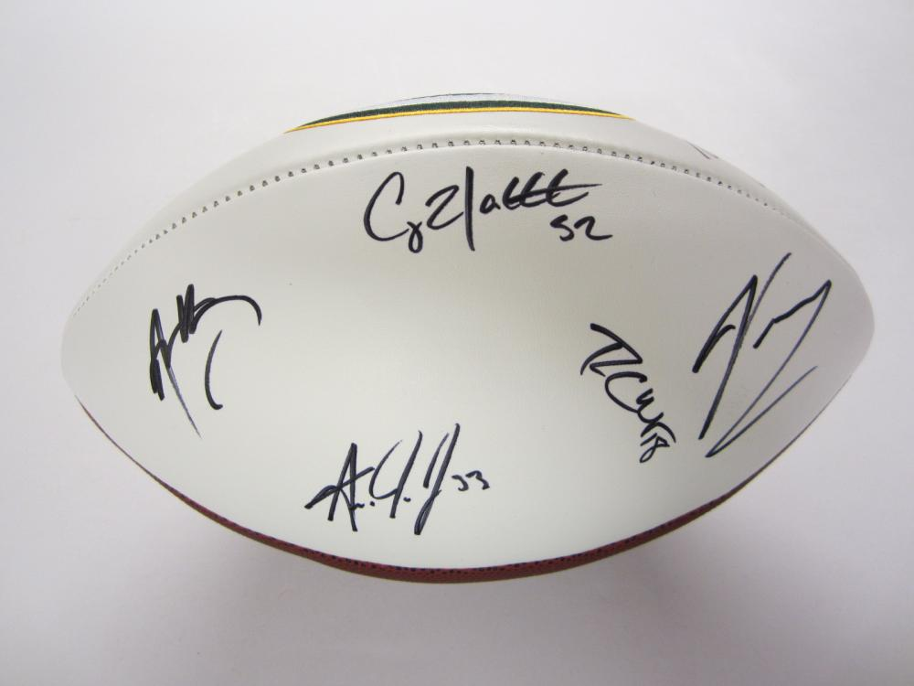 Lot 271: GREEN BAY PACKERS TEAM SIGNED AUTOGRAPHED FOOTBALL COA RODGERS,ADAMS,MATTHEWS +