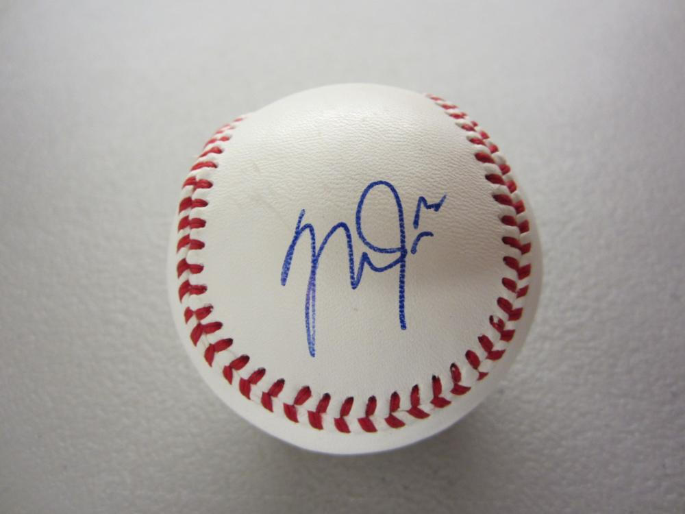 Lot 282: MIKE TROUT SIGNED AUTOGRAPHED BASEBALL COA