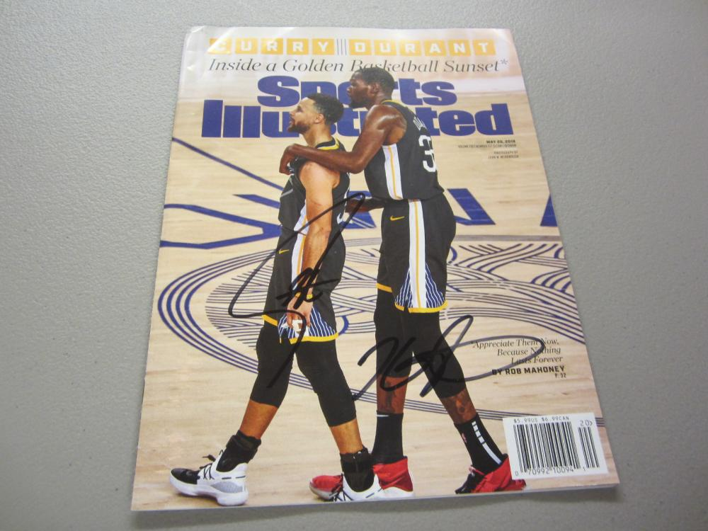 Lot 286: STEPHEN CURRY,KEVIN DURANT SIGNED AUTOGRAPHED SI MAGAZINE COA