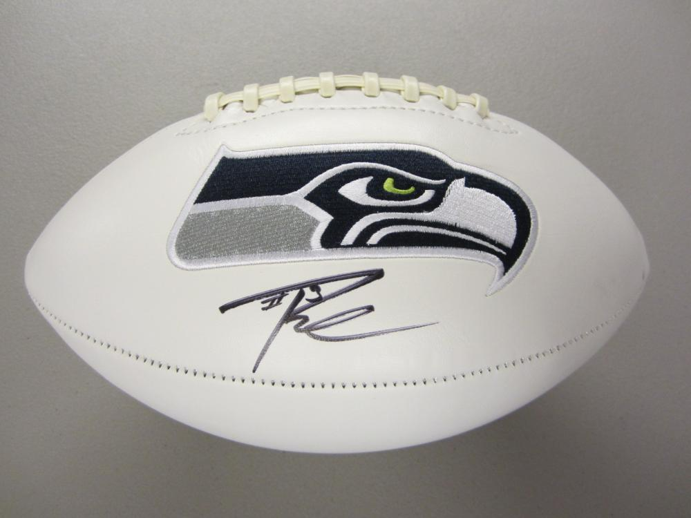 Lot 324: RUSSELL WILSON SIGNED AUTOGRAPHED SEAHAWKS FOOTBALL COA