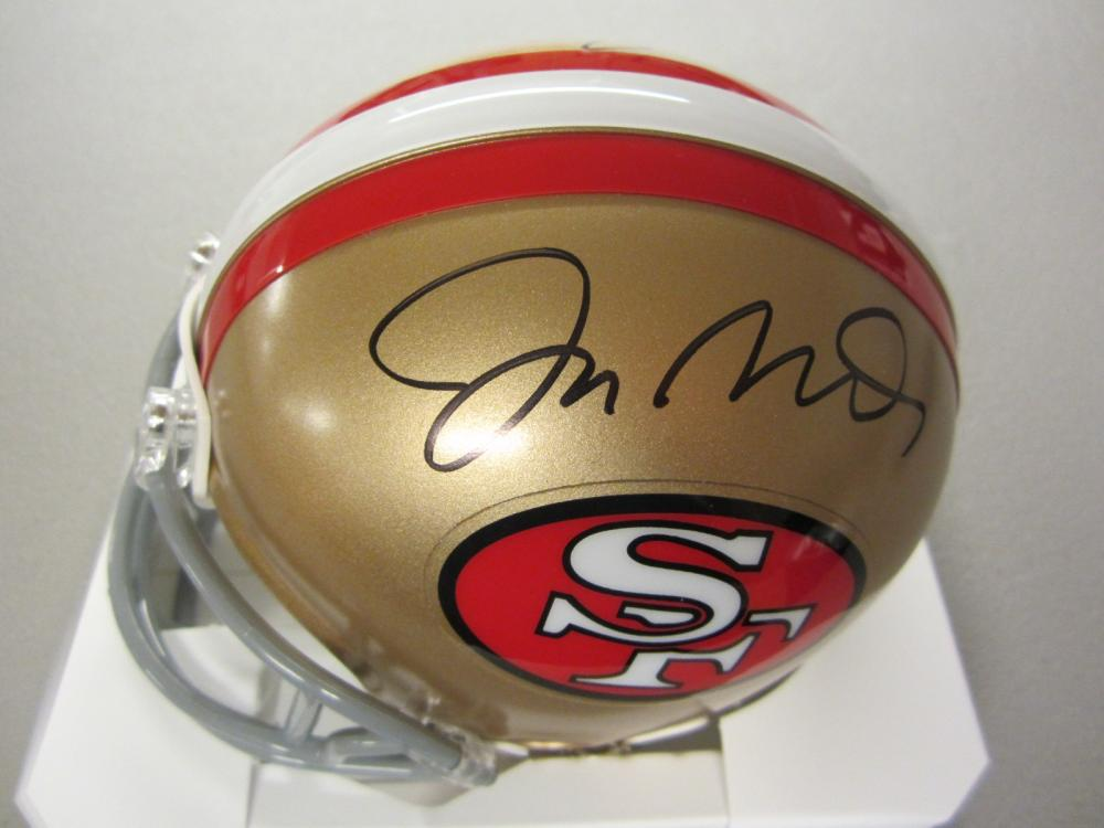 Lot 319: JOE MONTANA,JERRY RICE SIGNED AUTOGRAPHED 49ERS MINI HELMET COA