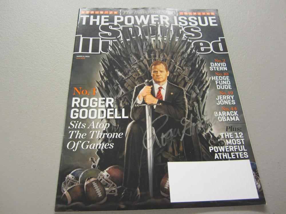 Lot 338: ROGER GOODELL SIGNED AUTOGRAPHED SI MAGAZINE COA