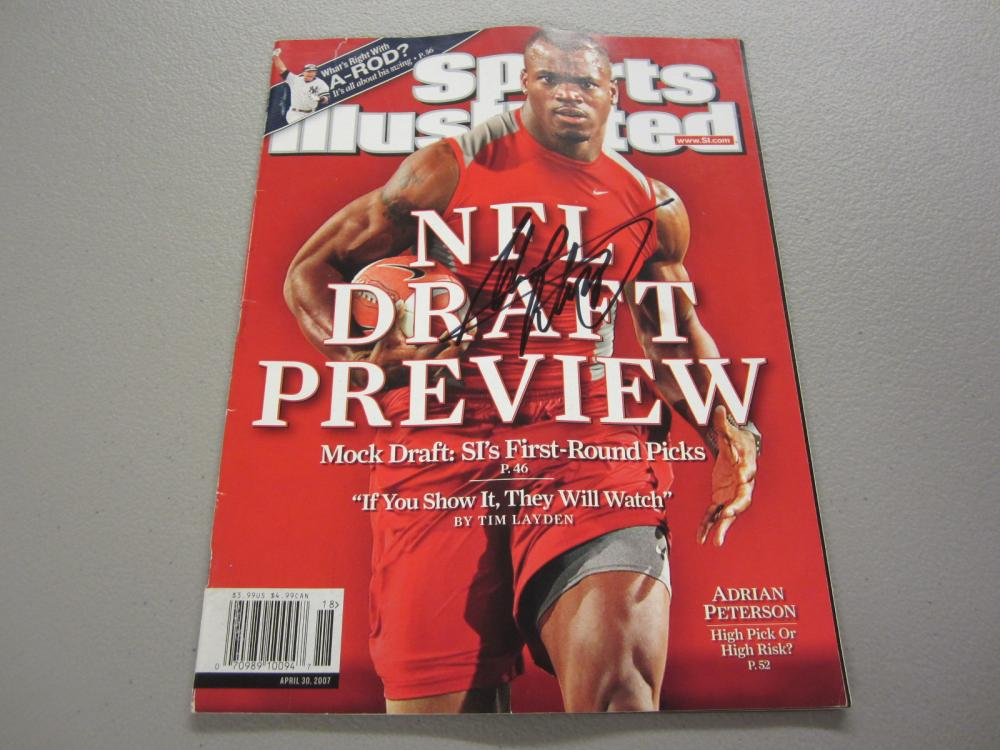 Lot 339: ADRIAN PETERSON SIGNED AUTOGRAPHED SI MAGAZINE COA