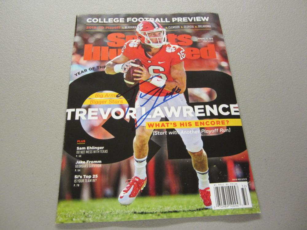 Lot 347: TREVOR LAWRENCE SIGNED AUTOGRAPHED SI MAGAZINE COA