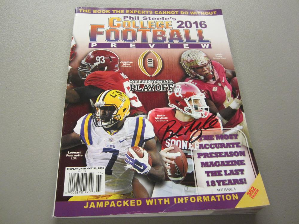 Lot 364: BAKER MAYFIELD SIGNED AUTOGRAPHED MAGAZINE COA