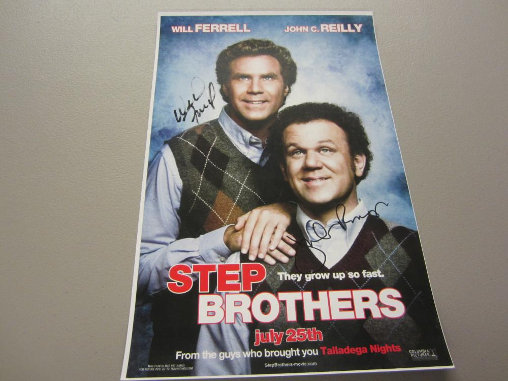 Lot 374: STEP BROTHERS CAST SIGNED AUTOGRAPHED 11X17 COA FERRELL,REILLY