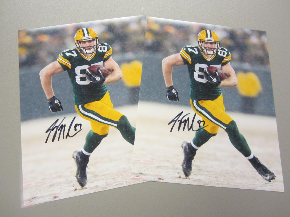 Lot 403: (2)JORDY NELSON SIGNED AUTOGRAPHED PACKERS 11X14 COA