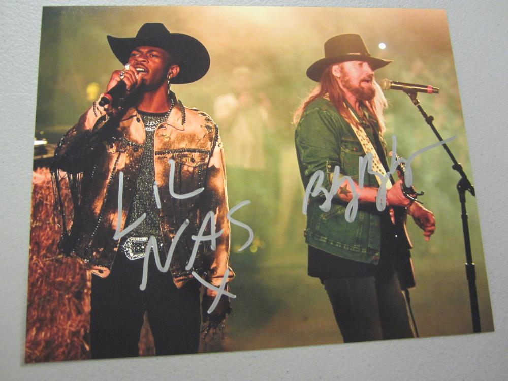 Lot 410: LIL NAS X,BILLY RAY CYRUS SIGNED AUTOGRAPHED 8X10 COA