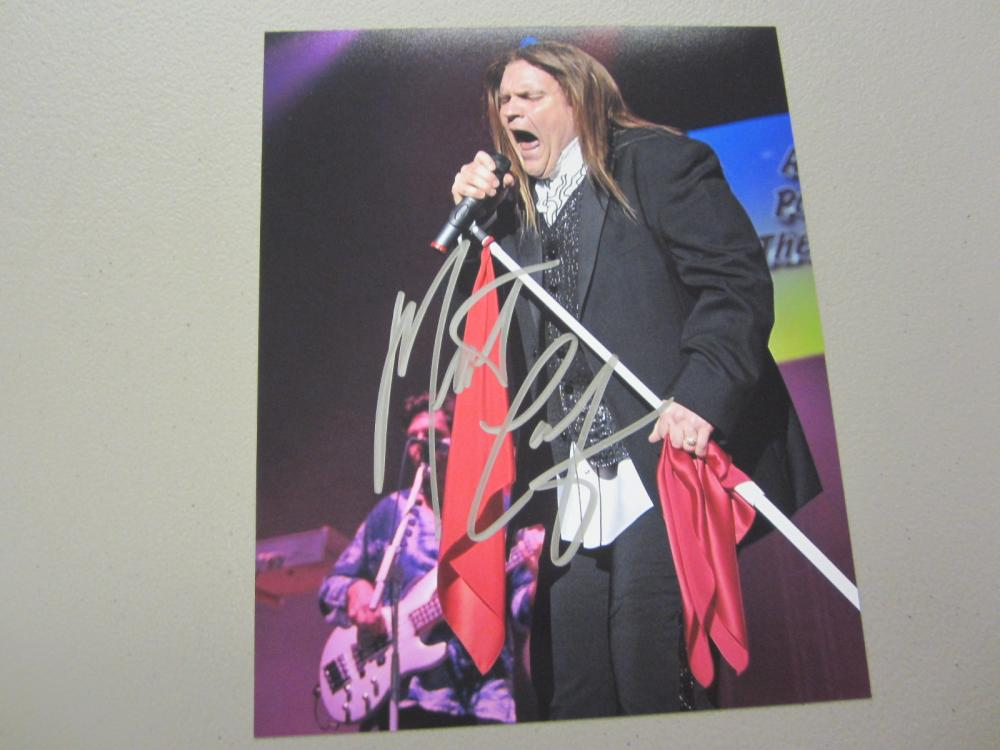 Lot 437: MEAT LOAF SIGNED AUTOGRAPHED 8X10 COA
