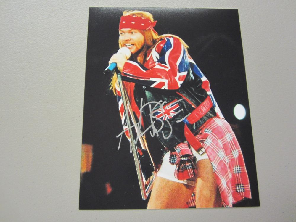 Lot 450: AXL ROSE SIGNED AUTOGRAPHED 8X10 COA