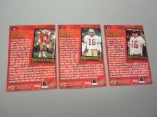 Lot 464: (3)JOE MONTANA SIGNED AUTOGRAPHED 49ERS CARDS COA