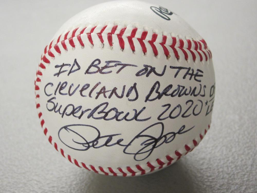 Lot 492: PETE ROSE SIGNED AUTOGRAPHED BASEBALL COA W/INSCRIPTION