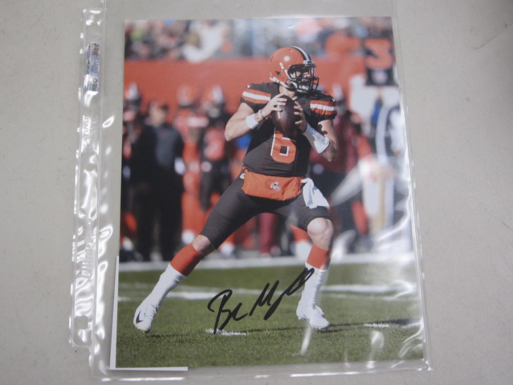Lot 505: BAKER MAYFIELD SIGNED AUTOGRAPHED BROWNS 8X10 COA