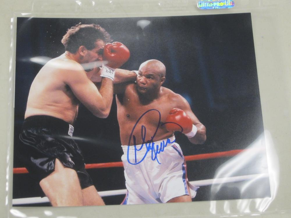 Lot 507: GEORGE FOREMAN SIGNED AUTOGRAPHED BOXING 8X10 COA