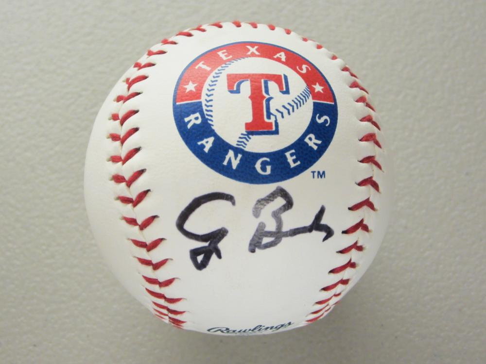 Lot 498: GEORGE BUSH SR. SIGNED AUTOGRAPHED RANGERS BASEBALL COA