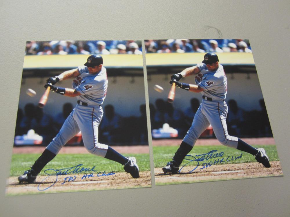 Lot 527: (2)JIM THOME SIGNED AUTOGRAPHED INDIANS 8X10 COA