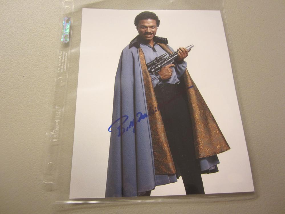 Lot 538: BILLIE DEE WILLIAMS SIGNED AUTOGRAPHED STAR WARS 8X0 COA