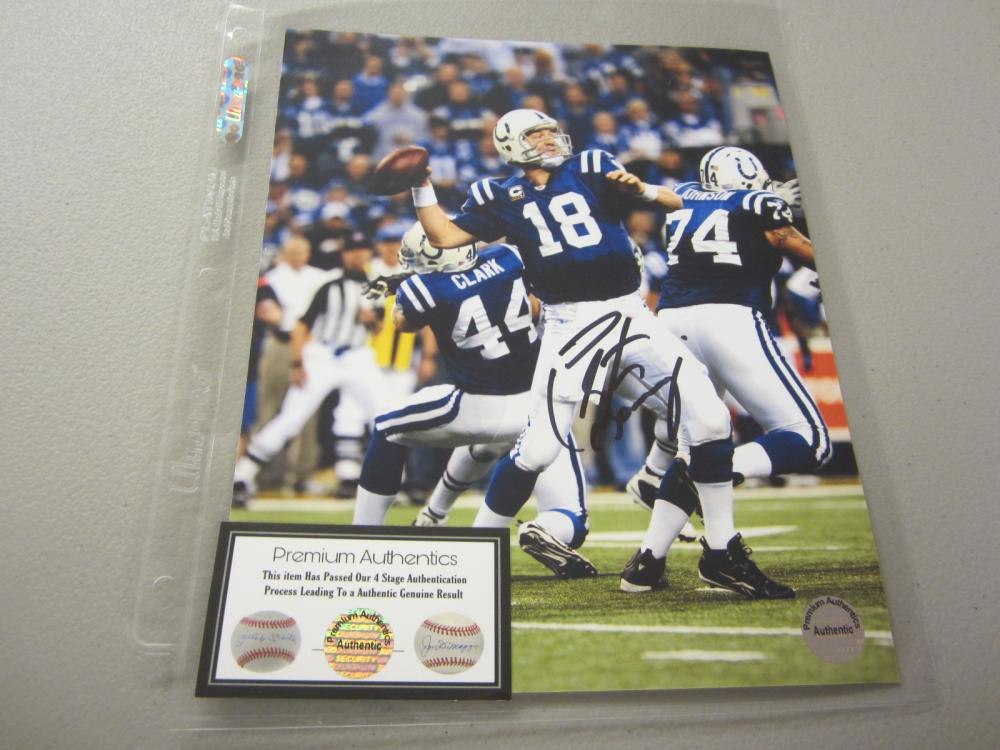 Lot 553: PEYTON MANNING SIGNED AUTOGRAPHED COLTS 8X10 COA