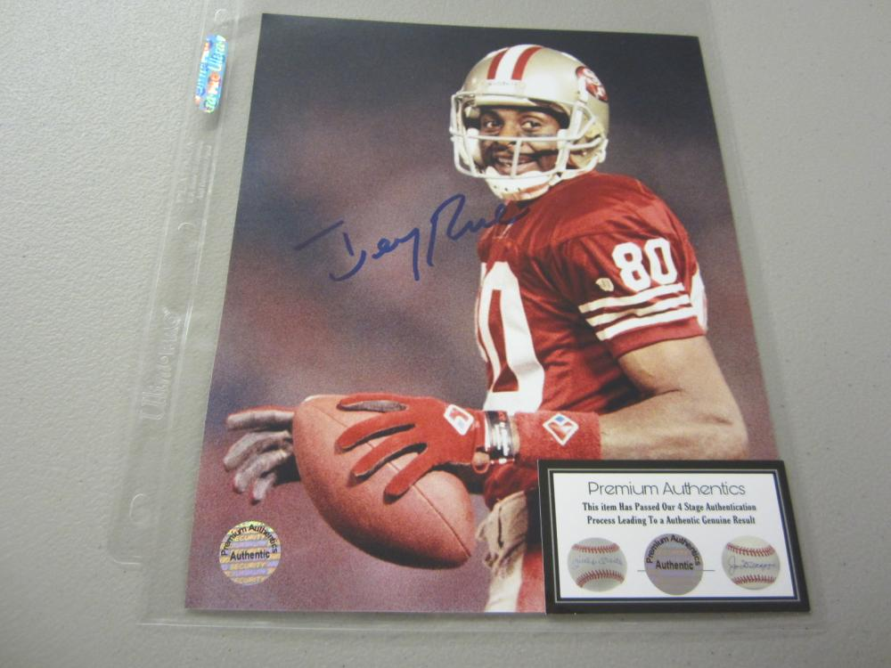 Lot 552: JERRY RICE SIGNED AUTOGRAPHED 49ERS 8X10 COA