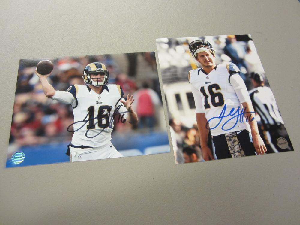 Lot 569: (2)JARED GOFF SIGNED AUTOGRAPHED RAMS 8X10 COA