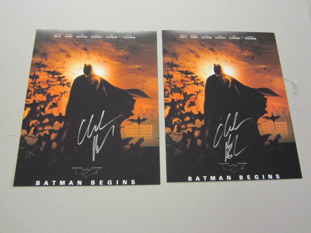Lot 583: (2)CHRISTIAN BALE SIGNED AUTOGRAPHED 8X10 COA