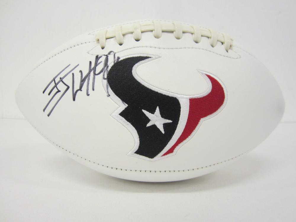 Lot 1200: JJ WATT TEXANS SIGNED AUTOGRAPHED FOOTBALL CERTIFIED COA