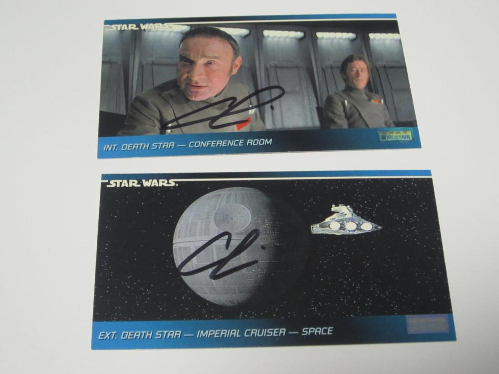 Lot 650: GEORGE LUCAS STAR WARS SIGNED AUTOGRAPHED LOT OF 2 TRADING CARDS CERTIFIED