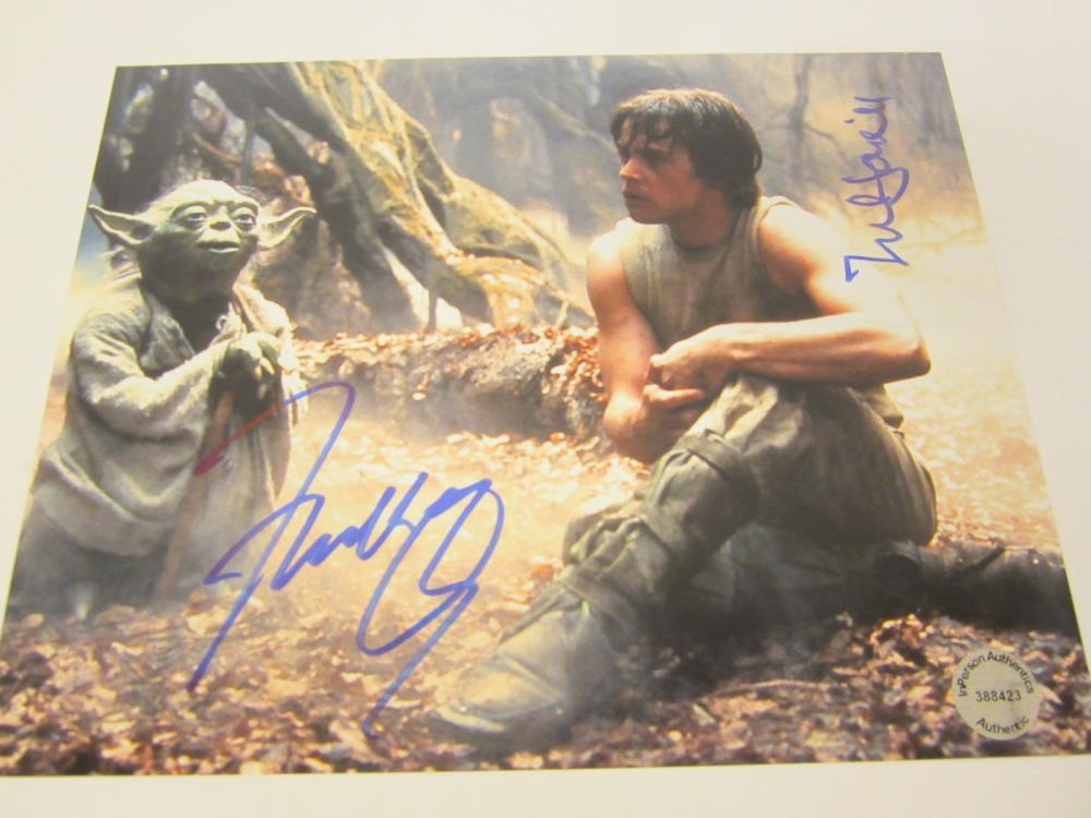 Lot 646: Frank Oz Mark Hamill Star Wars signed autographed 8x10 Photo Certified Coa